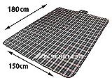 Schillern (シーラン) Picnic Fun Sheet 防水 レジャーシート (タータンチェックエメラルドグリーン, 180 x145cm)