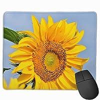 マウスパッド ひまわり 花 太陽 グレー ゲーミング オフィス最適 おしゃれ 疲労低減 滑り止めゴム底 耐久性が良い 防水 かわいい PC MacBook Pro/DELL/HP/SAMSUNGなどに 光学式対応 高級感プレゼント Tartiny