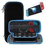Nintendo Switch 収納 ケース SHareconn ハード キャリング ハンドバッグ 保護フィルム付き 10個 ゲーム カートJoy-Con入り ポーチ 任天堂 ニンテンドースイッチ専用 カバー カードケース付き ポケット内蔵 ,ブルー