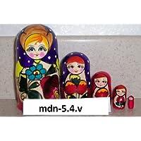 Russian Nesting Doll (Maidan) * 5 Pcs / 4 in * mdn-5.4v