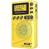 TOMLOV Mini DAB/DAB+ Digital Radio Play FM Portable MP3 Player with LCD Display Screen Multimedia Loudspeaker Player Automati