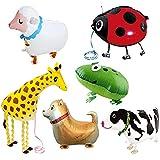 Edostree ウォーキング 動物バルーン 動物風船  誕生日 パーティーグッズ 子供プレゼント 6個セット DWQ-01