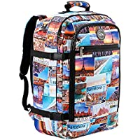 Cabin Max®️ Metz Backpack Flight Approved Carry On Luggage Bag Massive 44 Litre Travel Hand Luggage 56x36x23 - Perfectly Sized for Qantas Airlines, Air New Zealand, Jetstar and Many More!