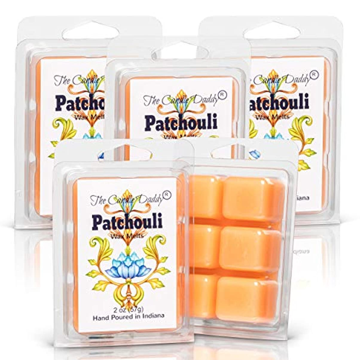 アンペアスキー香水The Candle Daddy Patchouli - 最大香りのワックスキューブ/タルト/メルト- 5パック-10オンス 合計30個
