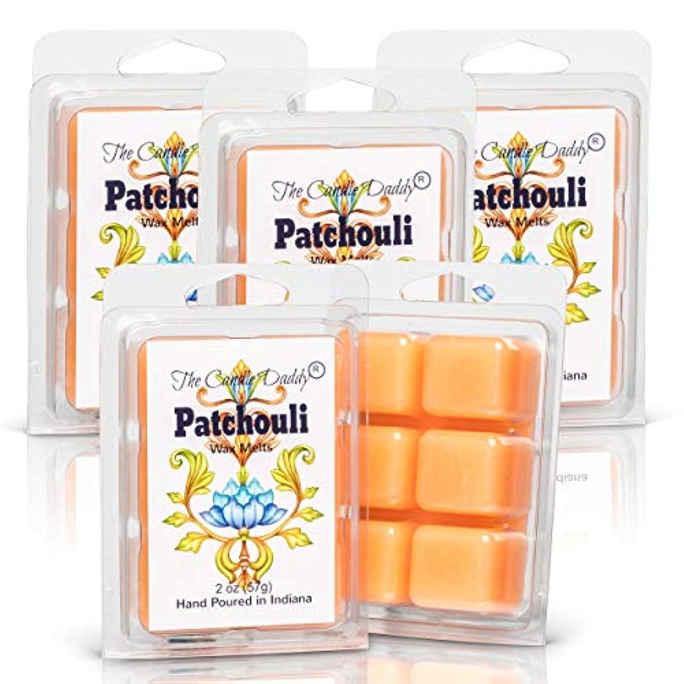 真空はげバラバラにするThe Candle Daddy Patchouli - 最大香りのワックスキューブ/タルト/メルト- 5パック-10オンス 合計30個