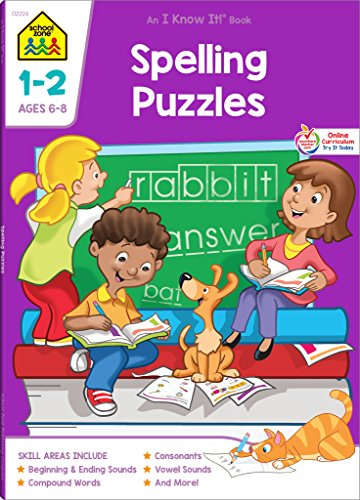 Spelling Puzzles, Grades 1-2 (School Zone's I Know...