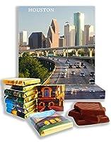 面白いヒューストン市の食べ物の贈り物⌘「HOUSTON」⌘ヒューストン市のチョコレートセットが素敵! (グレー)