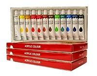 禅アートSupply 36パックアクリル絵の具12mlレインボー顔料ARTIST PAINTING