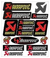 Akrapovicエンブレム+反射A4カースタイリングステッカーのための新しいアルミ3D耐熱排気管ステッカー
