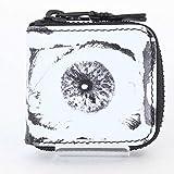 (シュプリーム)SUPREME ×コムデギャルソン 【17SS】【Eyes Coin Pouch】目玉模様総柄レザーコインケース(ホワイト×ブラック) 中古