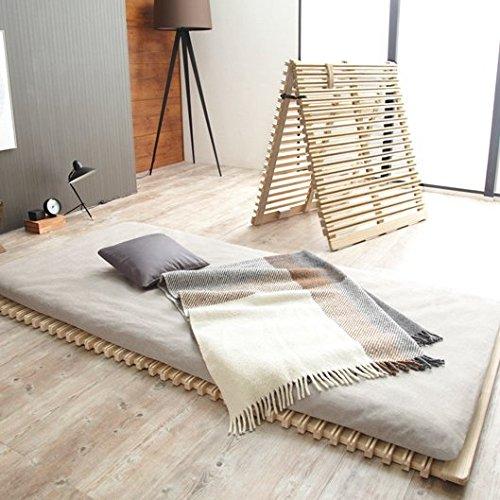 魔法のすのこマット すのこベッド シングル (100×200cm) 二つ折りタイプ