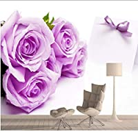 Xbwy リビングルームの壁画3Dの壁の家の装飾のためのバラの壁紙-250X175Cm
