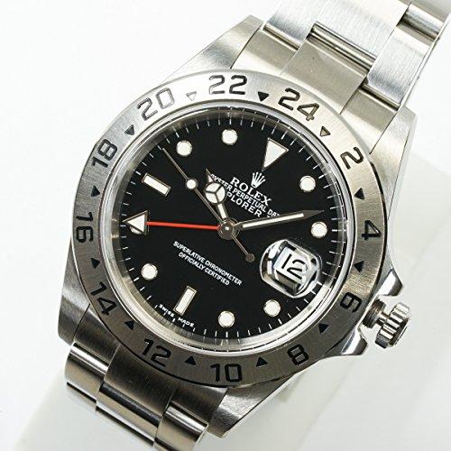 [ロレックス] ROLEX 腕時計 エクスプローラーII 黒文字盤 16570 F番 メンズ 中古美品
