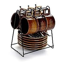 ティーカップセット、屋外コーヒーカップアフタヌーンティー香りティーカップオフィスコーヒーカップ容量110ml (色 : E)