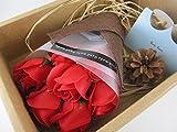 母の日 の 贈り物 に カーネーション バラ ソープ フラワー 石鹸の香り (バラ 赤 7本箱入り)
