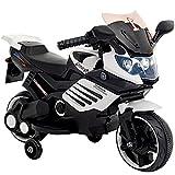 子供用 電動 乗用 バイク 061【白】/ 乗用玩具 / 補助輪付 / CBK-061-WH