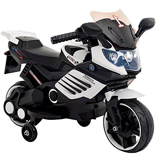 子供用 電動 乗用 バイク 061【白】/ 乗用玩具 / 補...
