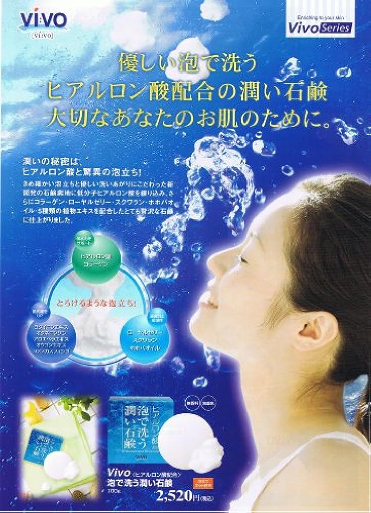 枯れる上がる序文ヒアルロン酸 泡で洗う潤い石鹸