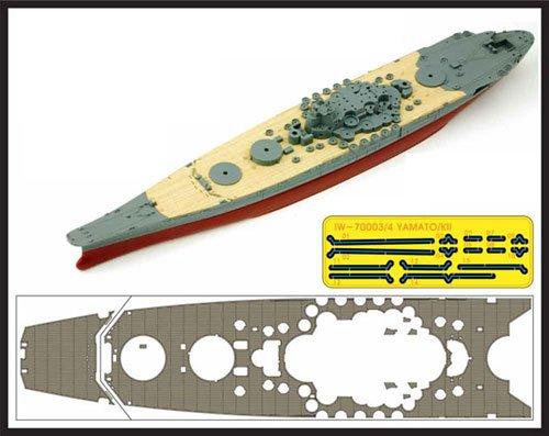 インフィニモデル 1/700 IWシリーズ 日本海軍 戦艦 紀伊用 木製甲板 F社用 エッチングパーツ付き プラモデル用パーツ IW7004