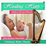 Healing Harp Baby Sleep Music with Mothers Heart Beat