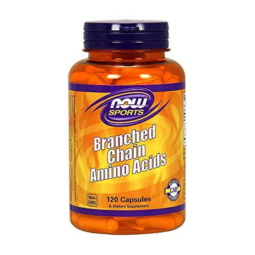 オレンジ群がる注目すべき[海外直送品] ナウフーズ 分岐鎖アミノ酸(BCAA) 120カプセル