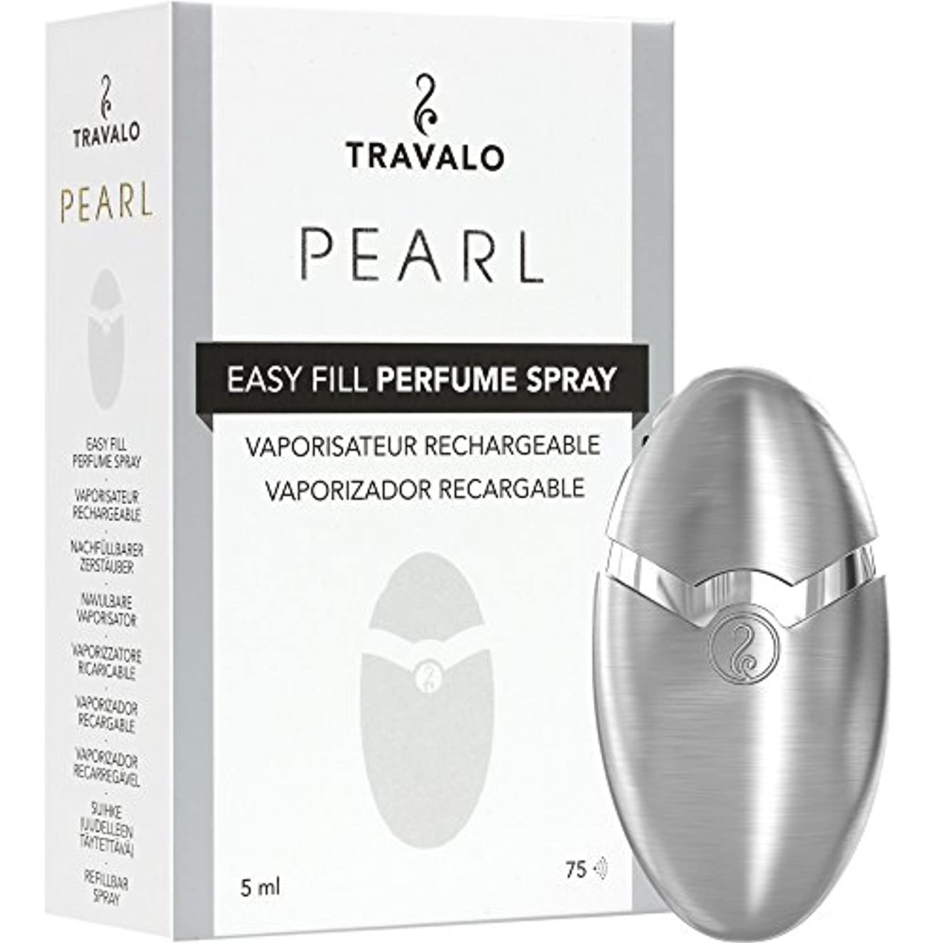 もつれ自治ぐるぐるTRAVALO PEARL トラヴァーロ 香水 スプレー 香水 アトマイザー 香水 ボトル (シルバー)