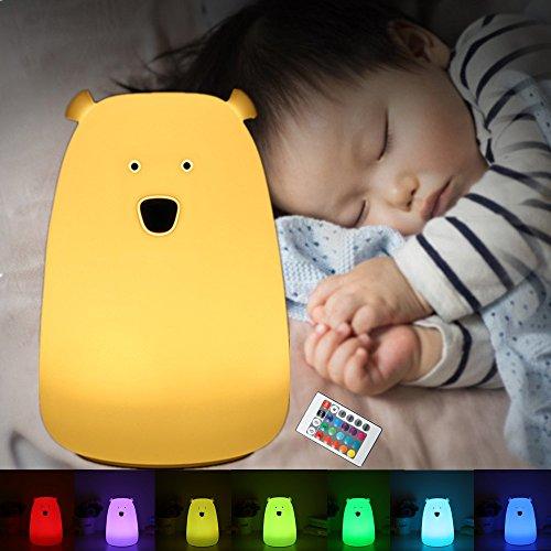 SOLMORE 萌えベアシリカゲルランプ 熊呼吸ランプ ベッドサイトランプ LED デスクライト 夜...