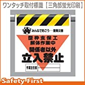 【ユニット】墜落災害防止標識 型枠支保工解体作業中 [品番:340-17A]