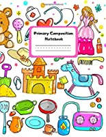 Primary Composition Notebook: Large Personalized Handwriting Practice Paper Primary Story Notebook, Journal, Diary With Story Space and Dotted Mid Line with Blank Writing Sheets for Kindergarten to 2nd Grade Elementary Students (8,5x11 Lined 110 Pages)