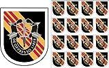 ミリタリーペットショップマグネット アメリカ陸軍 第5特殊部隊 ブラックフラッシュ ビニールマグネット 車 冷蔵庫 ロッカー メタルデカール 3.8インチ