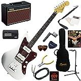 Squier エレキギター 初心者 入門 クラシックスタイルのJazzmaster。サウンド・ルックス共に、本格的なジャズマスターを再現。 人気のVOX Pathfinder10が入った本格14点セット Vintage Modified Jazzmaster/OWT(オリンピックホワイト)