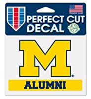 "NCAAミシガン大学wolverins 4"" x5"" Alumni Perfect Cut Decal"