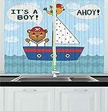 Best Ambesonneシャワー - Ahoy Its a Boyカーテンby Ambesonne、キュートベビーシャワーテーマIt 's A BoyでマリンスタイルBear Review