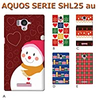 AQUOS SERIE SHL25 (Christmas01) B [C005201-01]クリスマス サンタ トナカイ アクオス スマホ カバー スマホケース au
