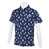 (キャロウェイアパレル)Callaway Apparel < メンズ > 速乾 半袖 ポロシャツ (ライトニングプリント) ゴルフ ウェア 241-7157513 241-7157513 120 120_ネイビー L