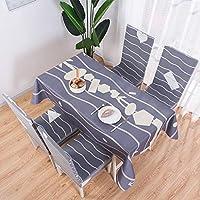 YIRE 長方形のテーブルクロス、綿とリネン小さなフレッシュホームテーブルコーヒーテーブルテーブルカバー (色 : 暗灰色, サイズ さいず : 140*220)