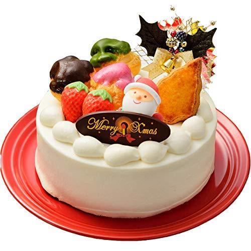 クリスマスケーキ5号(4人~6人)2019 Snow-プリンをとじこめたホワイトXmasケーキ-