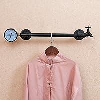 浮遊式棚 衣服棚ロフト産業風の装飾アメリカのレトロな鉄の着用服ラックハンガーは古い壁掛けの衣類棚を行う 工業用壁フレーム (サイズ さいず : 80センチメートル)