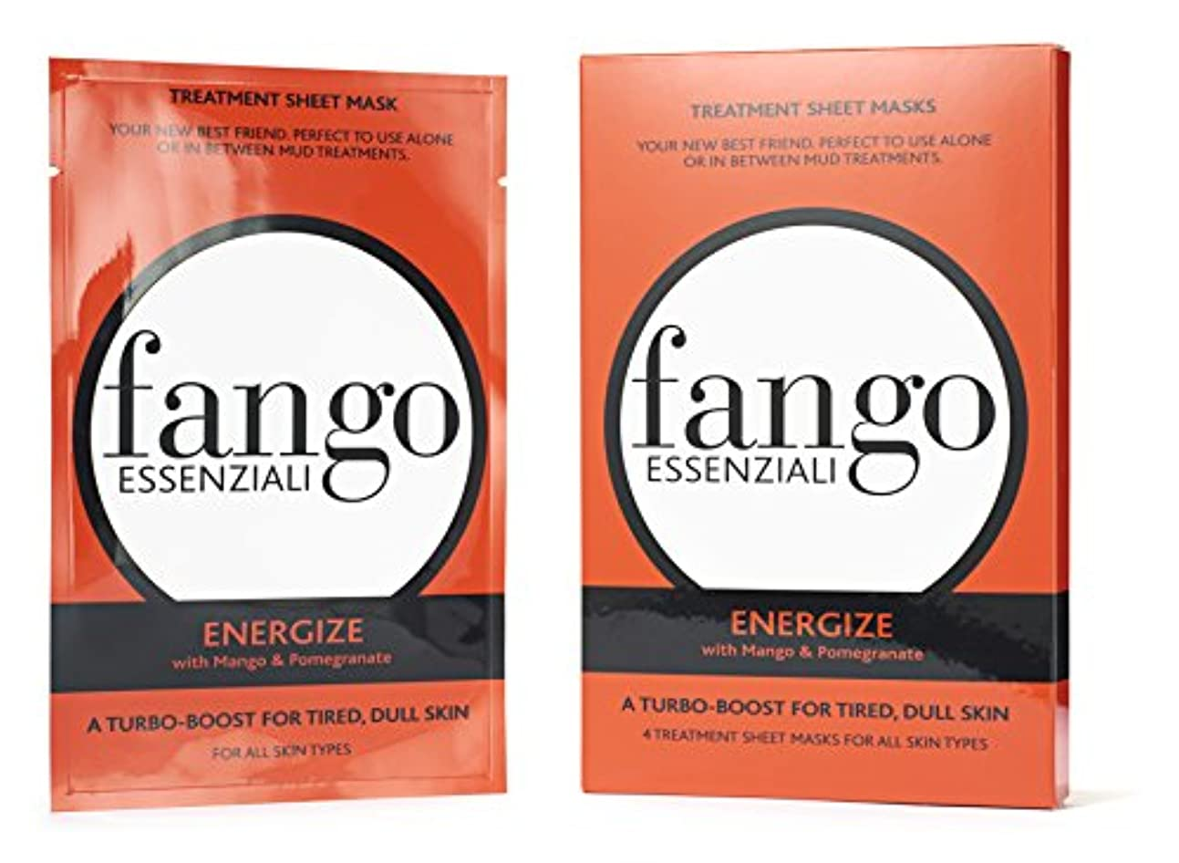 明確なトレード慣れるボルゲーゼ Fango Essenziali Energize Treatment Sheet Masks 4x25ml/0.83oz並行輸入品