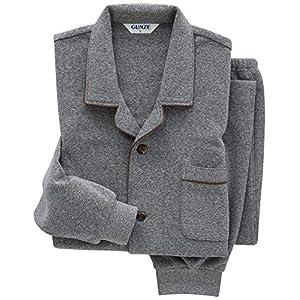 [グンゼ] メンズパジャマ (袖口・足口絞り) 長袖長パンツ 裏パイル起毛 SG4448 グレー 日本 M (日本サイズM相当)