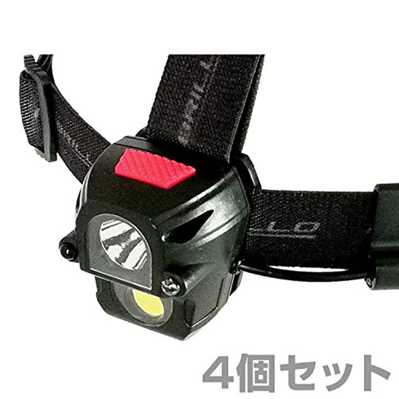 意義ハウジング抵抗力があるモブリロ(MOBRILLO) ヘッドライト 充電式 防塵防水仕様 160ルーメン モーションセンサー付属 4個セット MB-R270WS*4