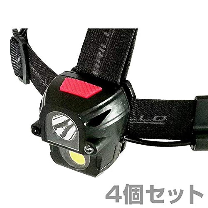 母音登山家代表するモブリロ(MOBRILLO) ヘッドライト 充電式 防塵防水仕様 160ルーメン モーションセンサー付属 4個セット MB-R270WS*4