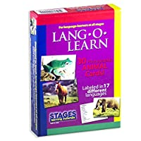 Stages LearningマテリアルVocabularyフォトカードFlashcardsの英語、スペイン語、フランス語、ドイツ語、イタリア語、中国& More SLM-LL-002