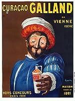 Curacao Gallandヴィンテージポスター(アーティスト: Leonetto CappielloフランスC。1911 9 x 12 Art Print LANT-59543-9x12