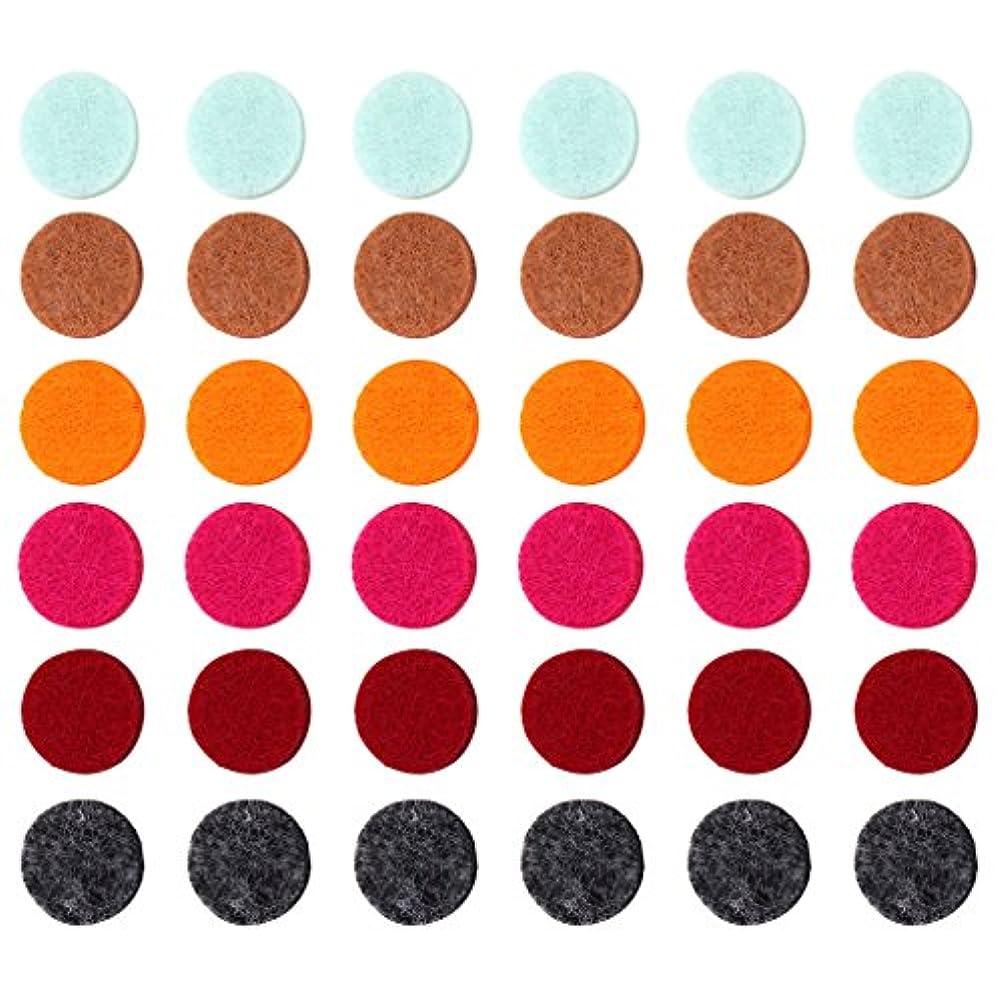 白雪姫広告する到着ZYsta 36個Refill Pads for Aromatherapy Essential Oil Diffuserロケットネックレス、交換用パッド: Thickened/洗濯可能/高吸水性のアロマディフューザーペンダント