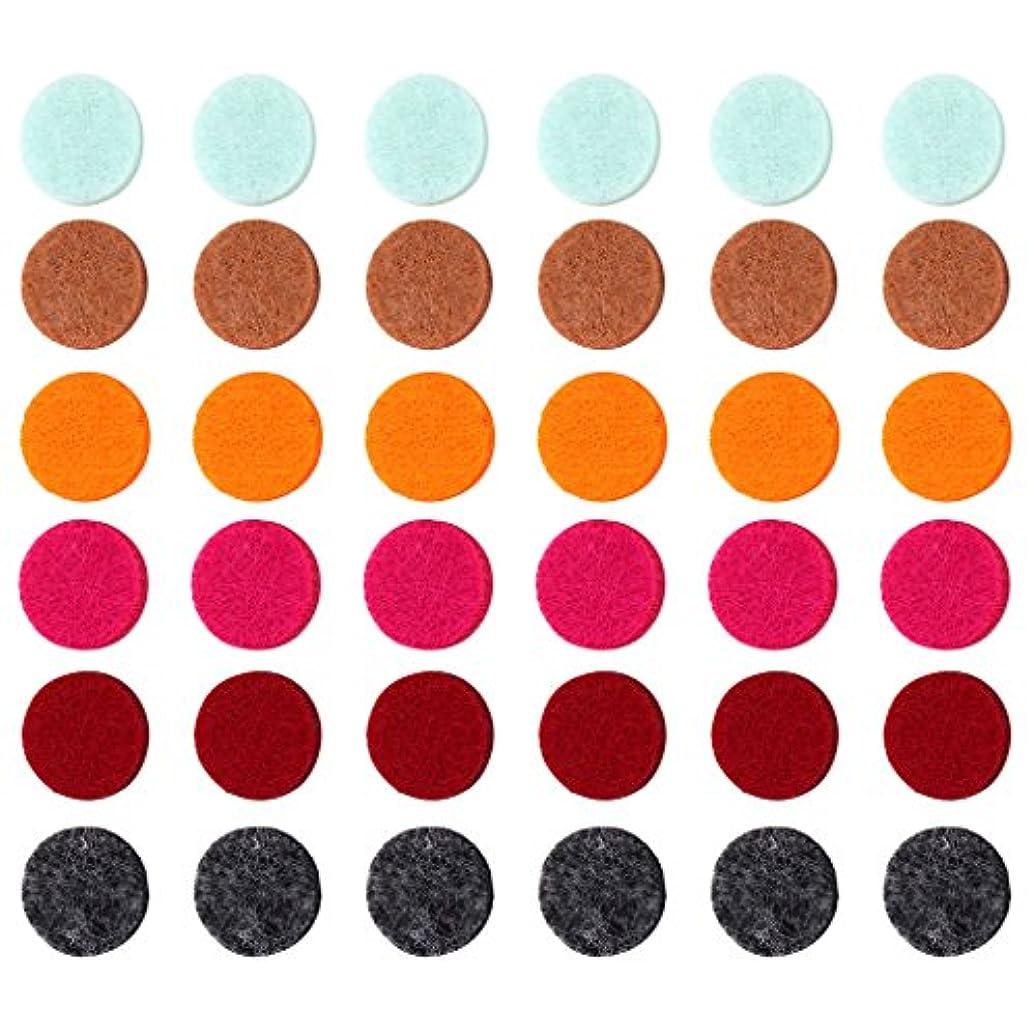 終わらせるメールを書く机ZYsta 36個Refill Pads for Aromatherapy Essential Oil Diffuserロケットネックレス、交換用パッド: Thickened/洗濯可能/高吸水性のアロマディフューザーペンダント