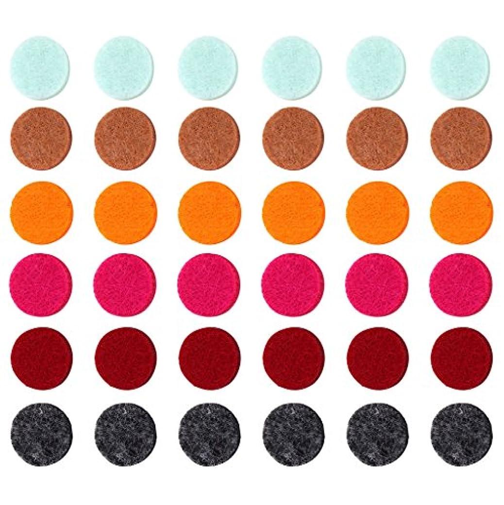 脚本家口頭フリッパーZYsta 36個Refill Pads for Aromatherapy Essential Oil Diffuserロケットネックレス、交換用パッド: Thickened/洗濯可能/高吸水性のアロマディフューザーペンダント