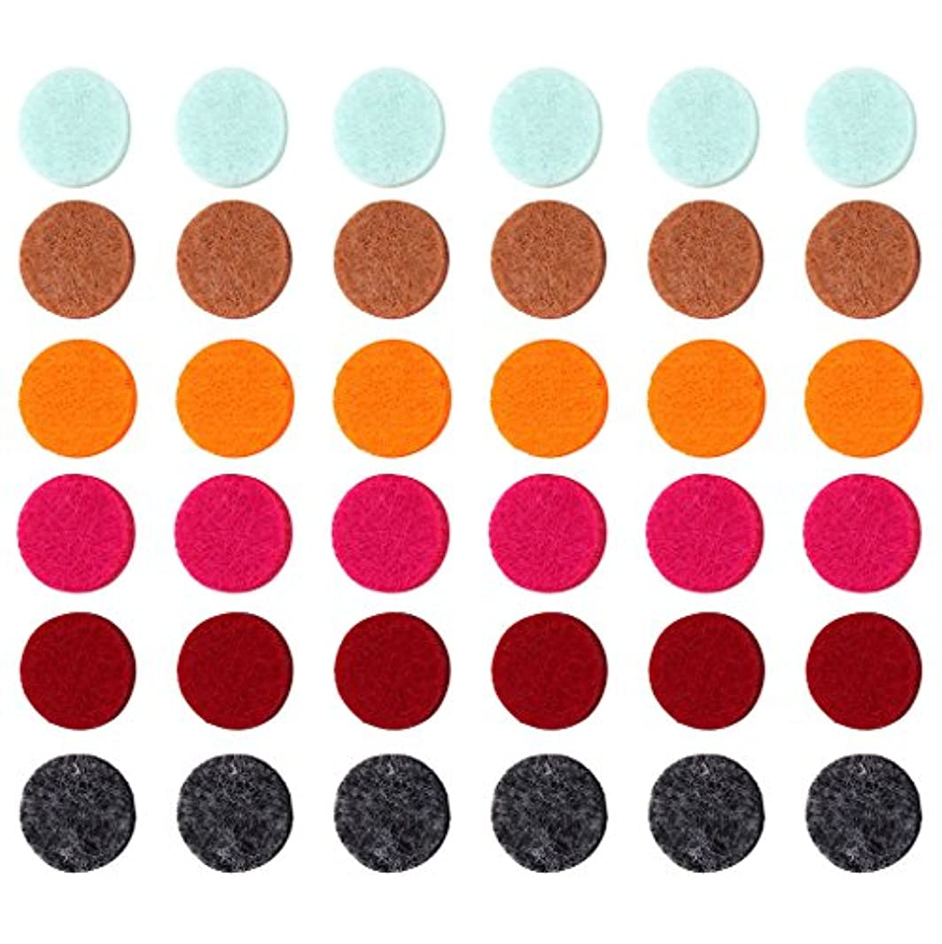 ロバ消化器バーベキューZYsta 36個Refill Pads for Aromatherapy Essential Oil Diffuserロケットネックレス、交換用パッド: Thickened/洗濯可能/高吸水性のアロマディフューザーペンダント