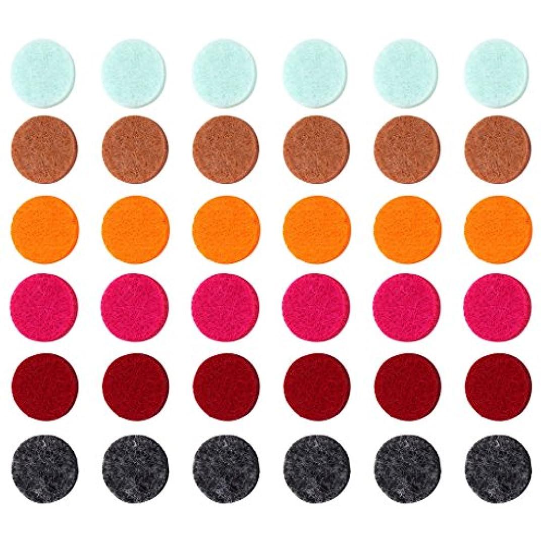 積極的に乏しい影響するZYsta 36個Refill Pads for Aromatherapy Essential Oil Diffuserロケットネックレス、交換用パッド: Thickened/洗濯可能/高吸水性のアロマディフューザーペンダント