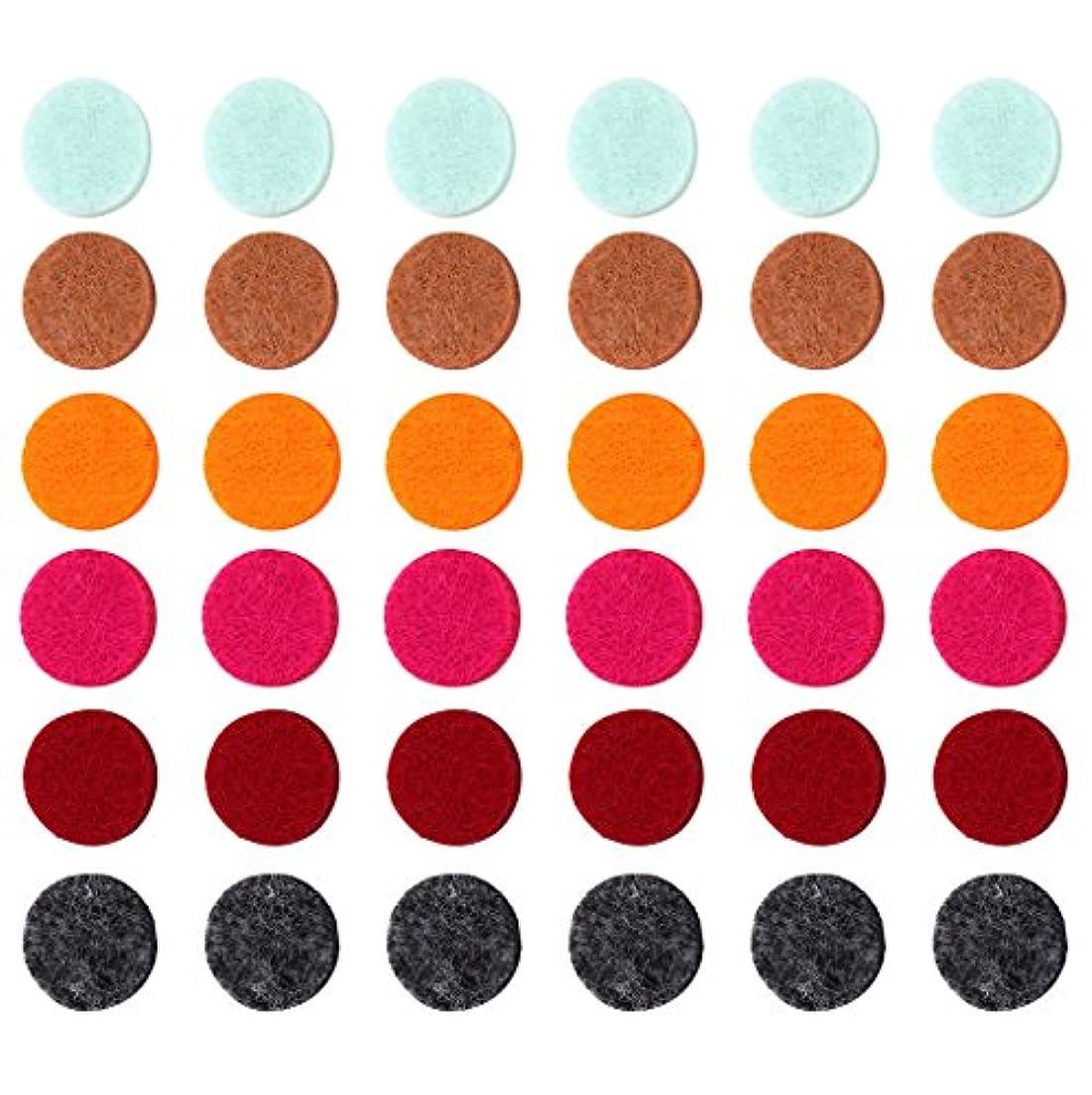 マーキー大事にする元に戻すZYsta 36個Refill Pads for Aromatherapy Essential Oil Diffuserロケットネックレス、交換用パッド: Thickened/洗濯可能/高吸水性のアロマディフューザーペンダント